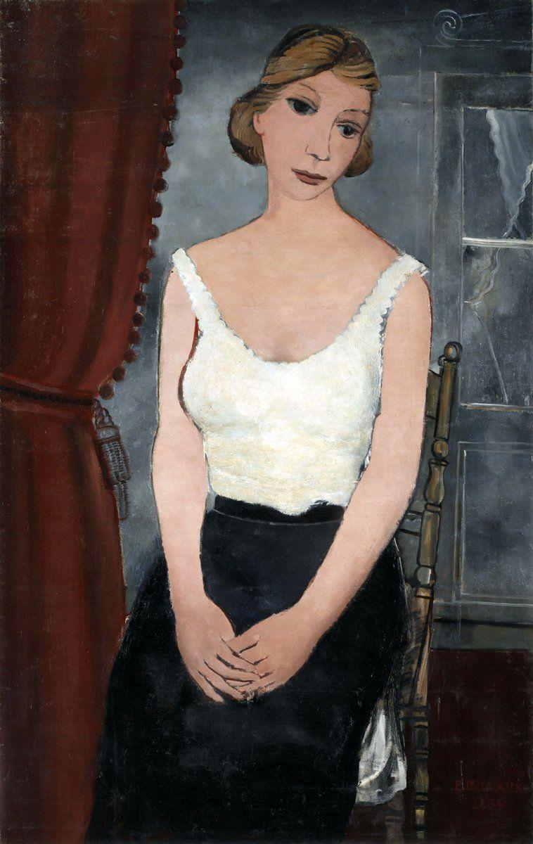 Paul Delvaux「Het rode gordijn」(1934)
