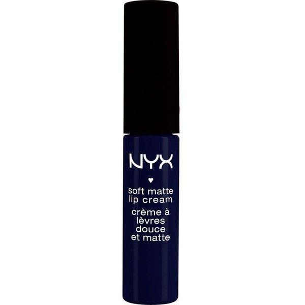 Nyx Cosmetics Soft matte lip cream ($6.43) ❤ liked on Polyvore featuring beauty products, makeup, lip makeup, lipstick, moisturizing lipstick, nyx and nyx lipstick