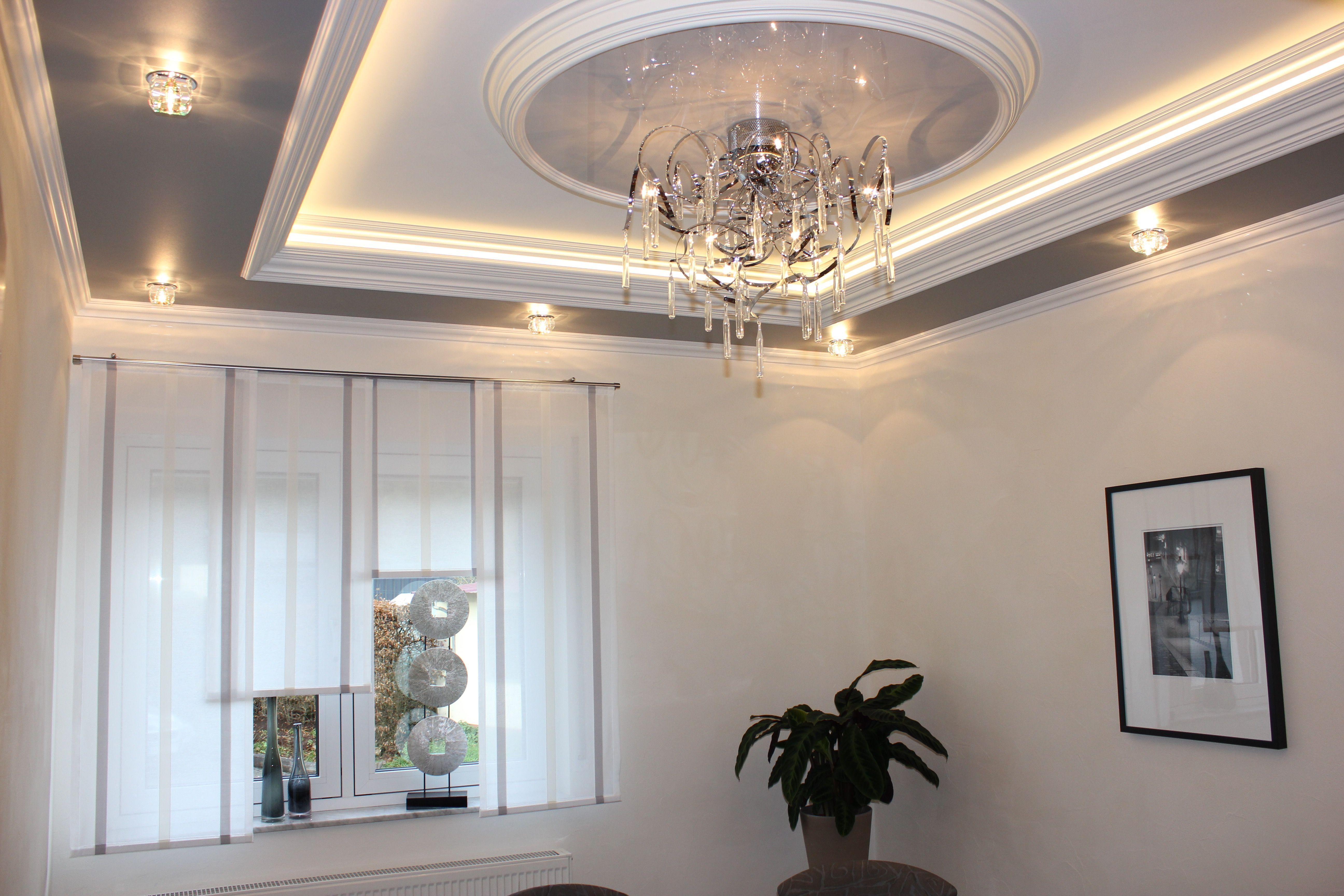 Spanplafond Met Verlichting Spanndecke Mit Beleuchtung Stretched Ceiling  With Lighting