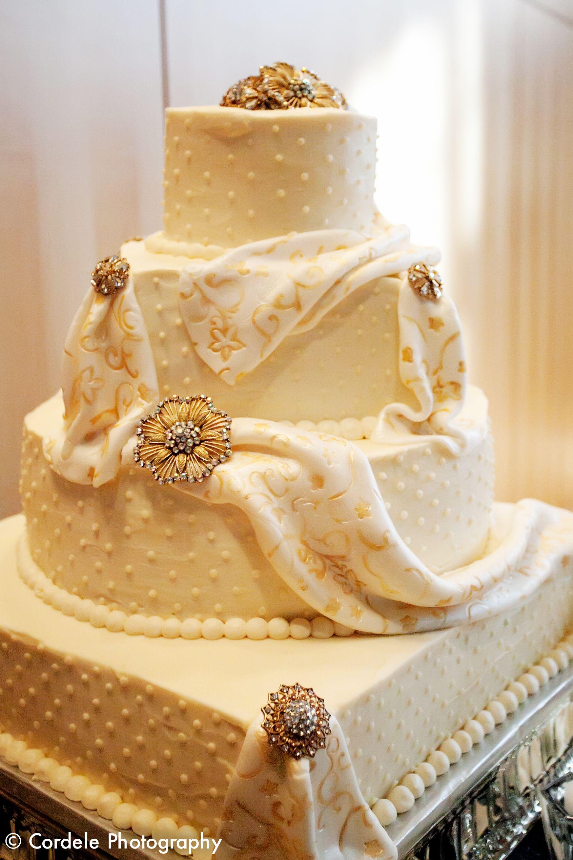 amazing wedding cake hand painted by Bruce Silverlief Boston MA