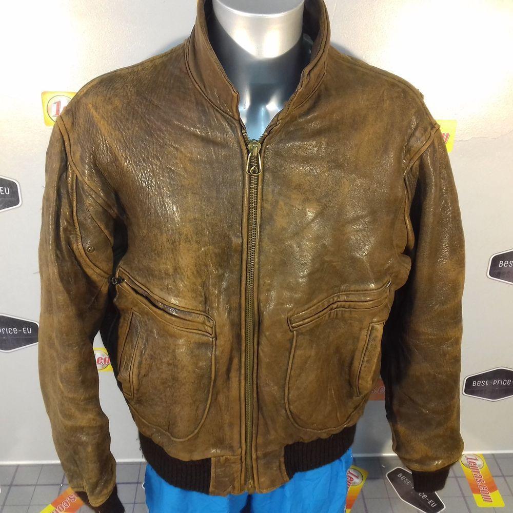 Vintage Avirex U S Navy Type G 2 Flight Bomber Distressed Brown Leather Jacket Avirex Jackets Leather Jacket Brown Leather Jacket [ 1000 x 1000 Pixel ]