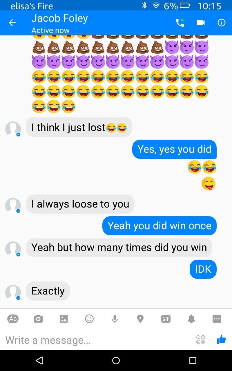 When you win an emoji war with babe