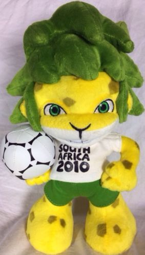 Fifa World Cup South Africa 2010 Mascot Plush Zakumi Official Futbol Soccer Mascot Futbol Soccer Fifa World Cup
