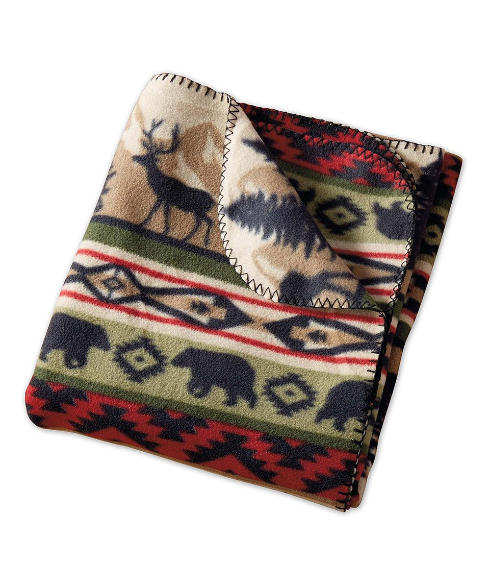 Take a look at this back country stripe fleece throw today