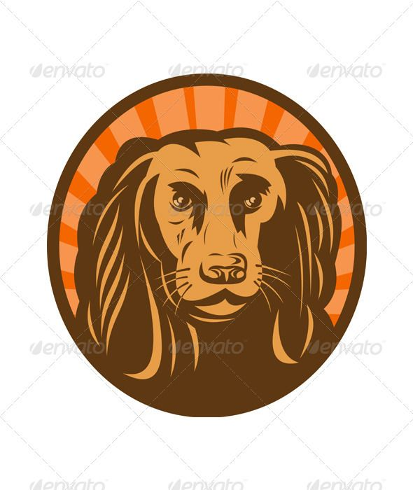 Golden Retriever Hunting Dog Head Fonts Logos Icons Hunting