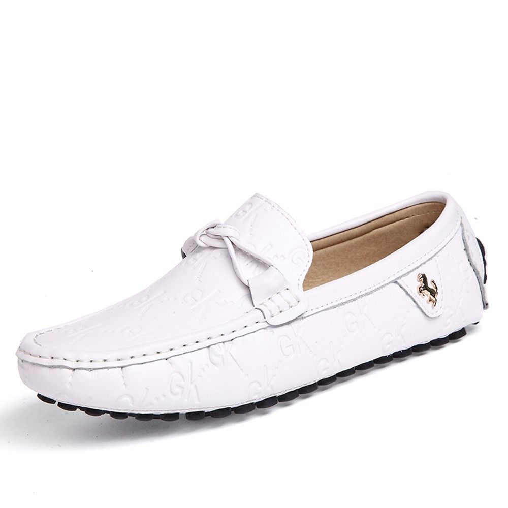 18d6708cba2 Sunrolan men leather moccasin shoes walking driving slip on penny loafers