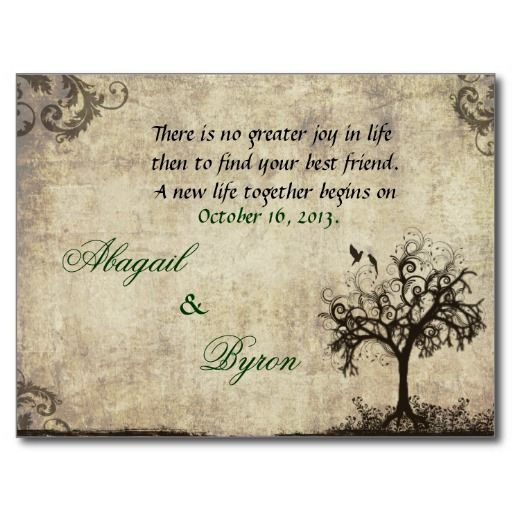 A New Life Begins Today RSVP Postcard  Swirl Wedding Postcards