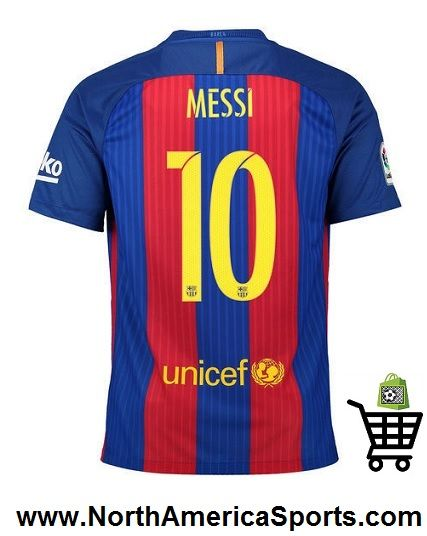 messi barcelona jersey home 2016 2017 by nike in mens youth sizes at northamericasports. barcelona