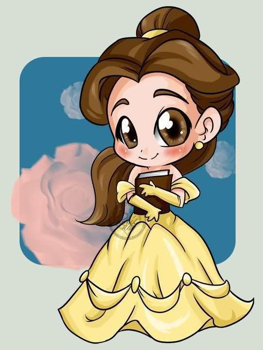 how to draw cute beauty and the beast characters
