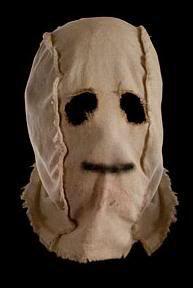 strangers burlap mask