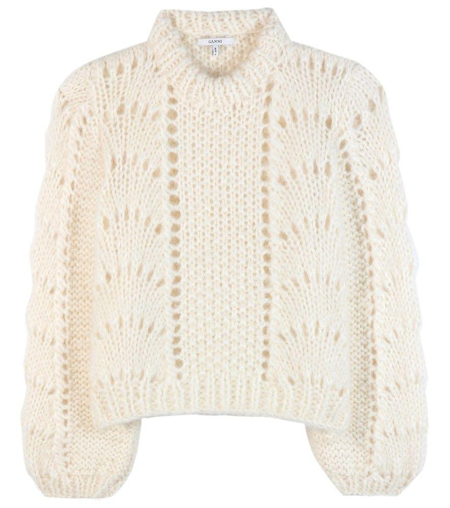 ba26226025e00 Ganni - Pull en mohair et laine The Julliard - Ce charmant pull signé Ganni  sera votre meilleur allié de l hiver. Son tricot mêlant le mohair et la  laine ...