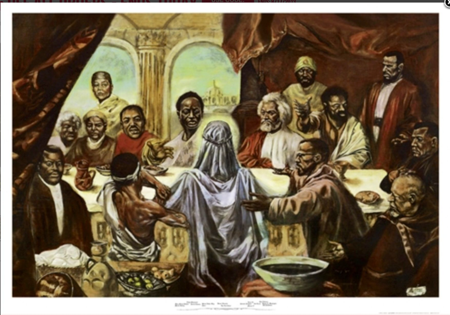Last Supper w/ Jesus & Famous Blackmen | Black Art | Pinterest