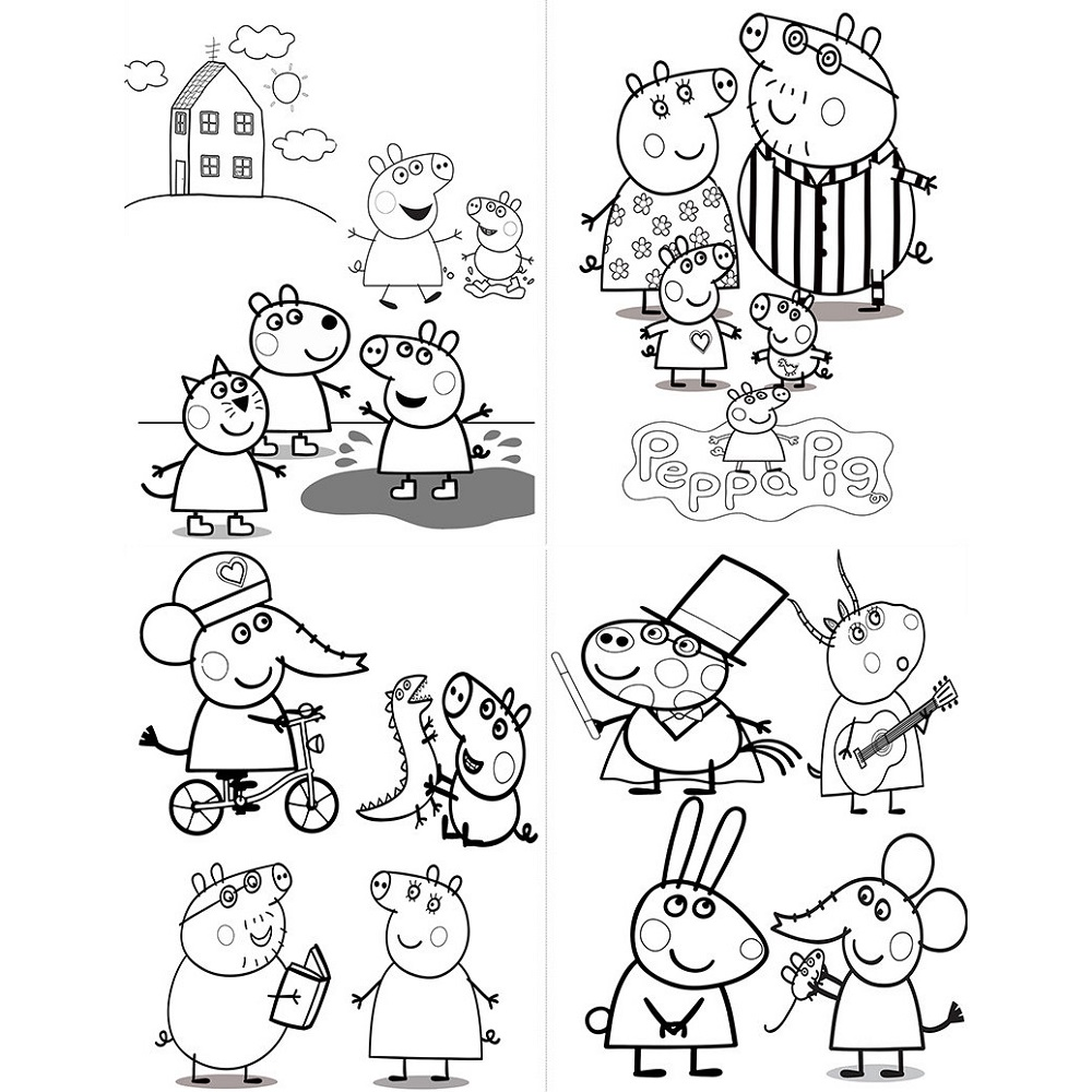 Free Peppa Pig Coloring Pages To Print 101 Coloring Peppa Pig Party Favors Coloring Books Coloring Pages