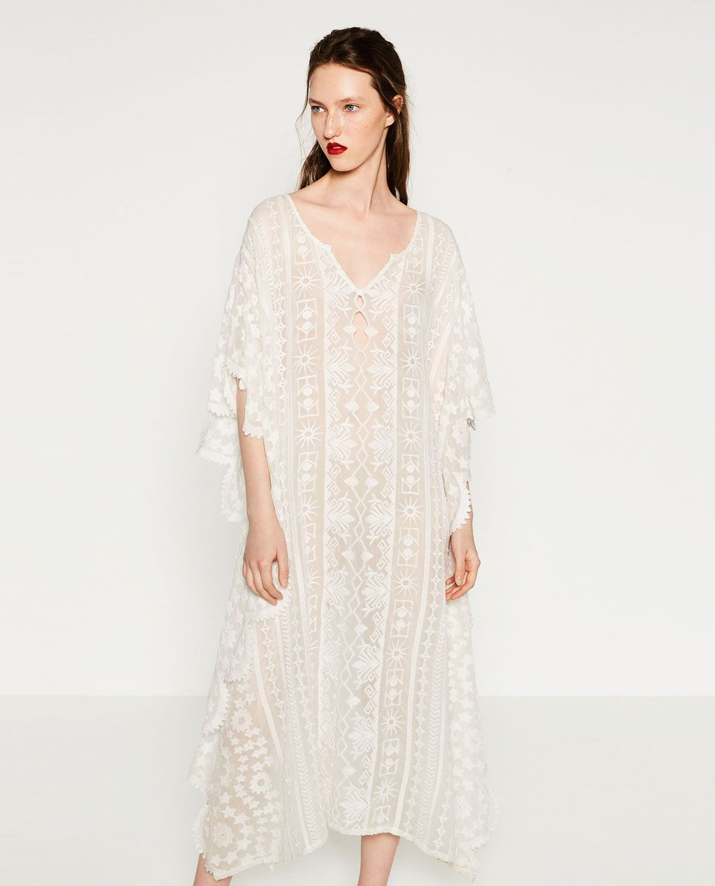 34ab11d0a5d5 Image 2 of EMBROIDERED KAFTAN from Zara | Clothes | Fashion dresses ...