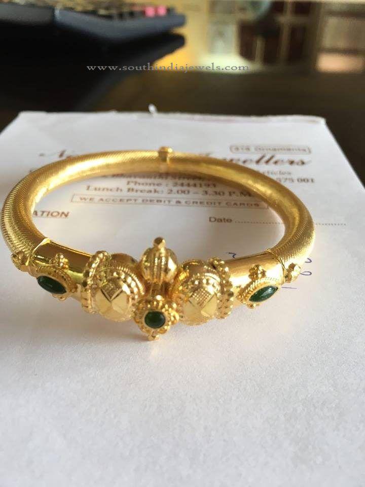 16 Grams Gold Bangle Design Preety Bangles Gold
