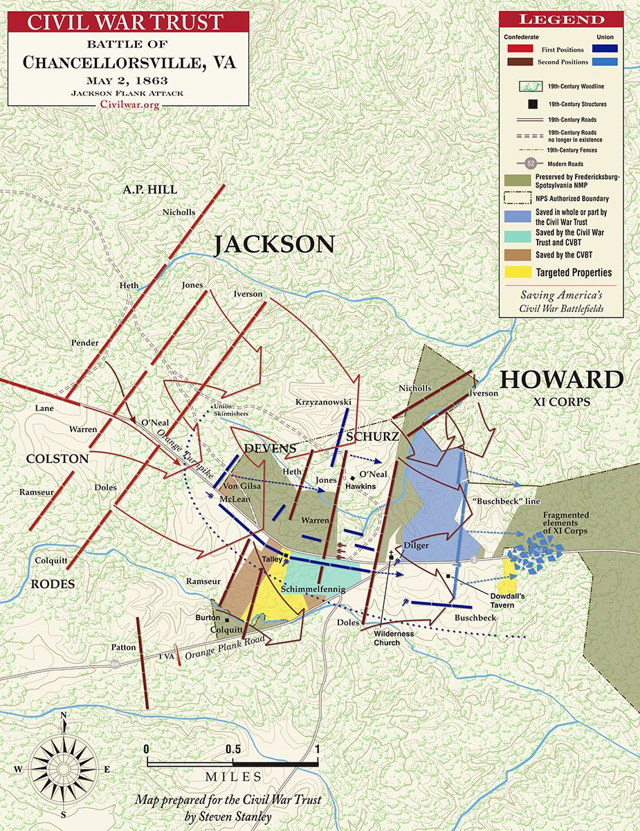 Jackson's Flank , May 2, 1863 | Civil War | Battle of ... on