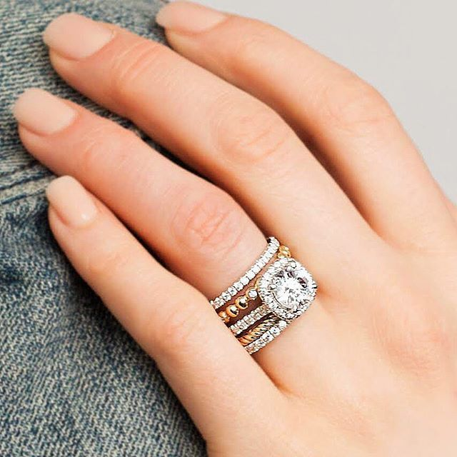 Engagement Ring Stacks Personalized For You Gabrielny