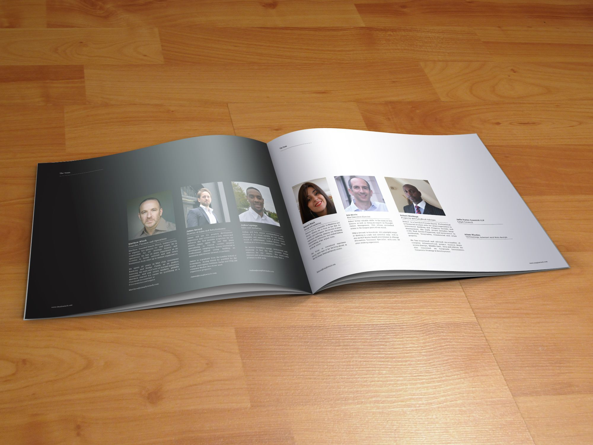 Simply Winch Brochure For High End Luxury Apartment Lettings Agency