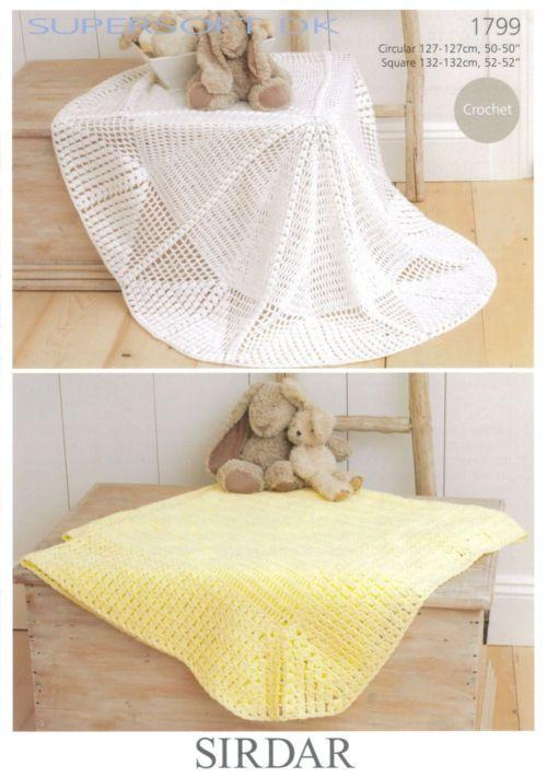 Sirdar 1799 Crochet Blankets in #3/DK weight yarn. Circular or ...