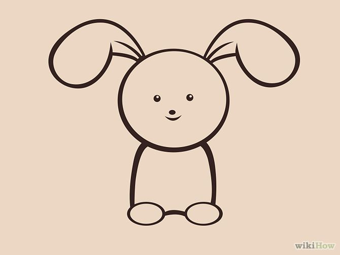 Draw a Simple Bunny Step 7.jpg | Tatting Designers - Shape & Line ...