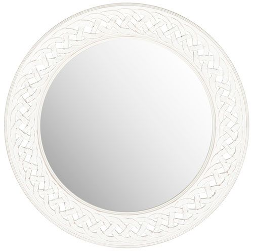 safavieh #MIR5005D braided chain mirror in white