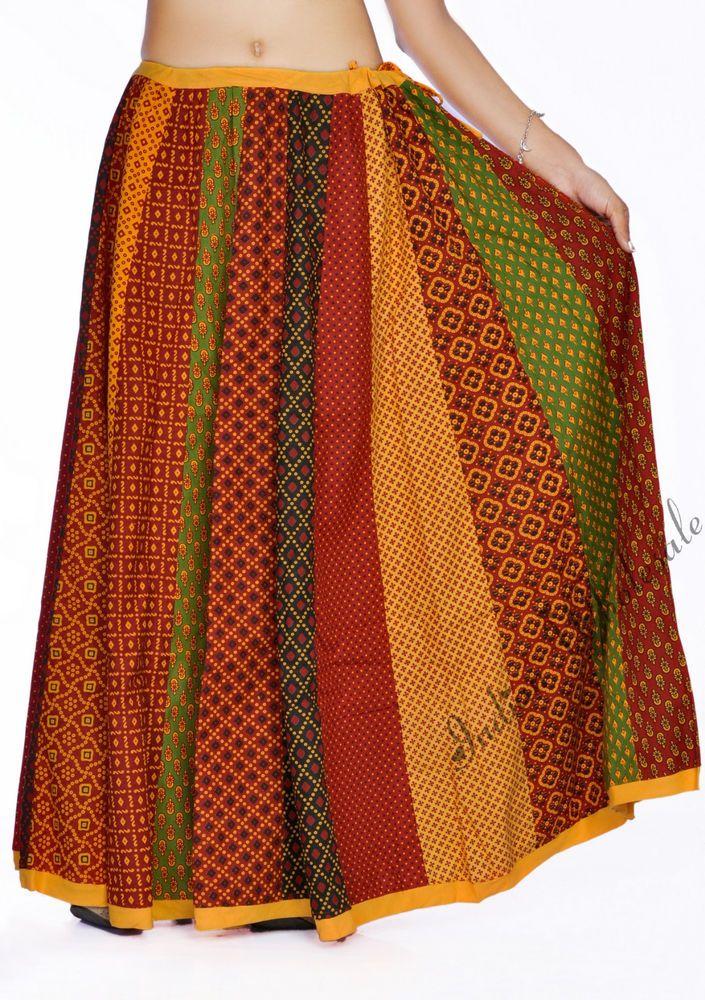 ac775c7090 Indain Beautiful Multicolor Bootie Long Skirt Rajasthani Print lehenga Skirt  #Handmade #FullSkirt