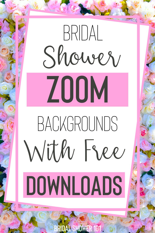 Bridal Shower Zoom Background