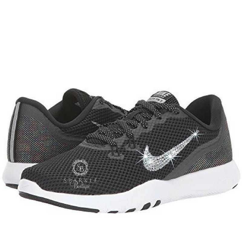 d0fafd90626a HUGE SALE - Nike BLING - Nike Flex Trainer 7 Metallic - Crystal Nikes -  Bedazzled