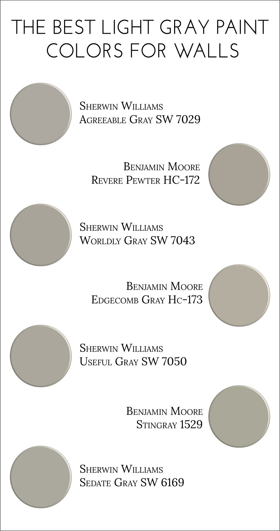 The best light gray paint colors for walls light grey for Color gray or grey