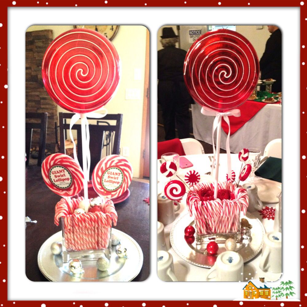Candy cane table decorations holiday