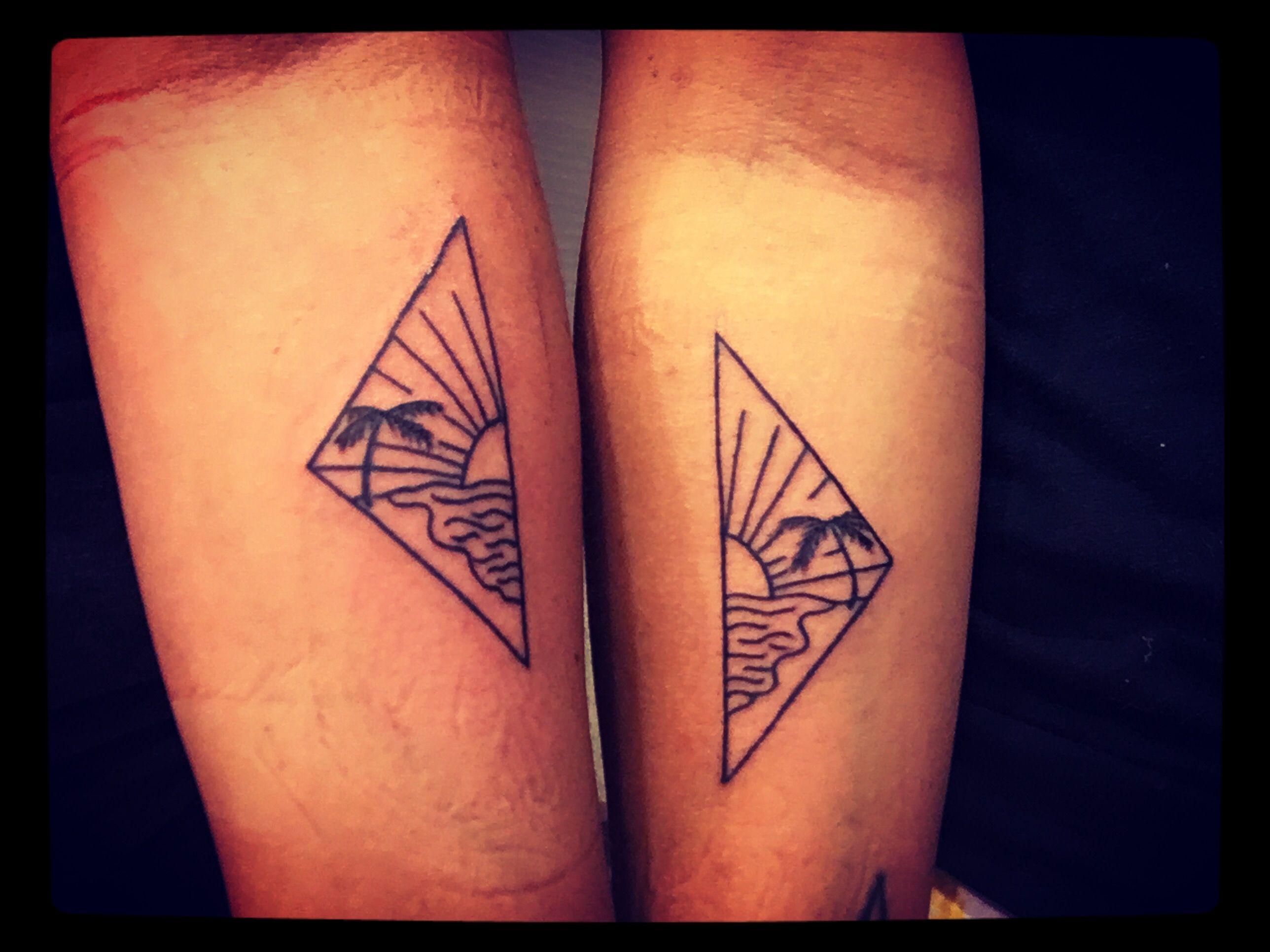 Best Friend Beach Tattoos Friend Tattoos Matching Bff Tattoos