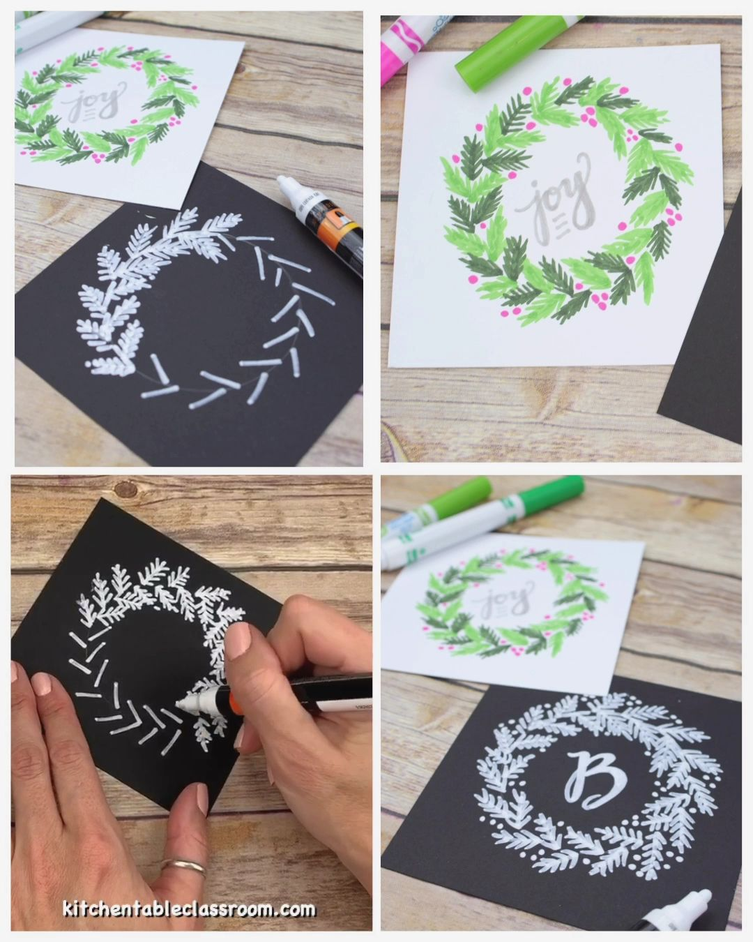 Photo of How to Draw A Holiday Wreath- Wreath Drawing Tutorial – The Kitchen Table Classroom