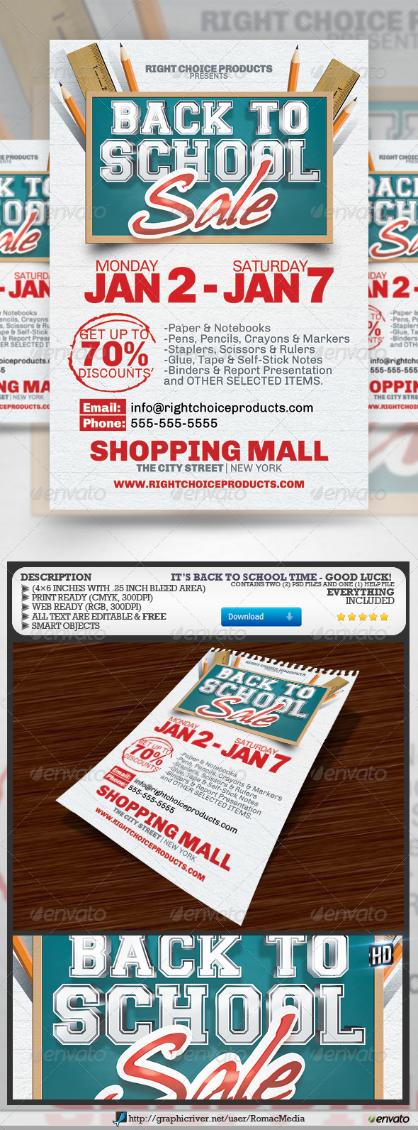 shopping week flyer graphicriver back to school sale flyer template
