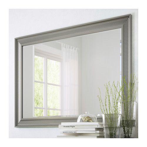 SONGE Spiegel, Silberfarben Silberfarben 91x130 Cm