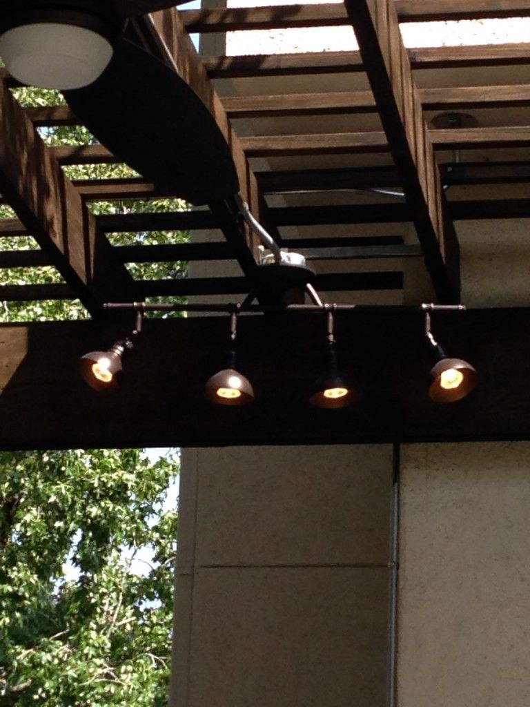 This image of outdoor track lighting by restoration hardware goes this image of outdoor track lighting by restoration hardware goes with a blog post on a houston outdoor kitchen with upscale outdoor furniture aloadofball Gallery