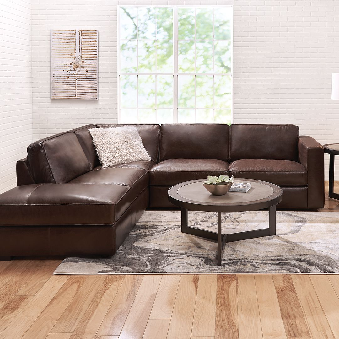 Best This Gorgeous Gianni 2 Piece Leather Sectional Sets The 400 x 300
