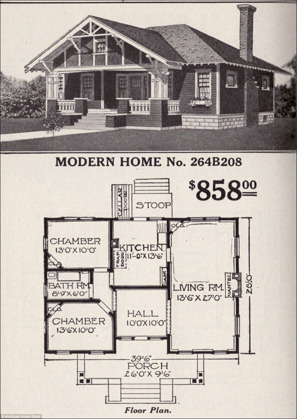 Man Restores His Grandparents 1916 Flat Pack Home From Sears Vintage House Plans House Roof House Plans