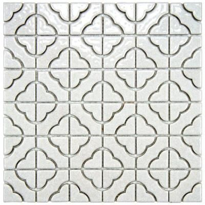 SomerTile Castle White Porcelain Mosaic Floor And Wall Tile (Case Of