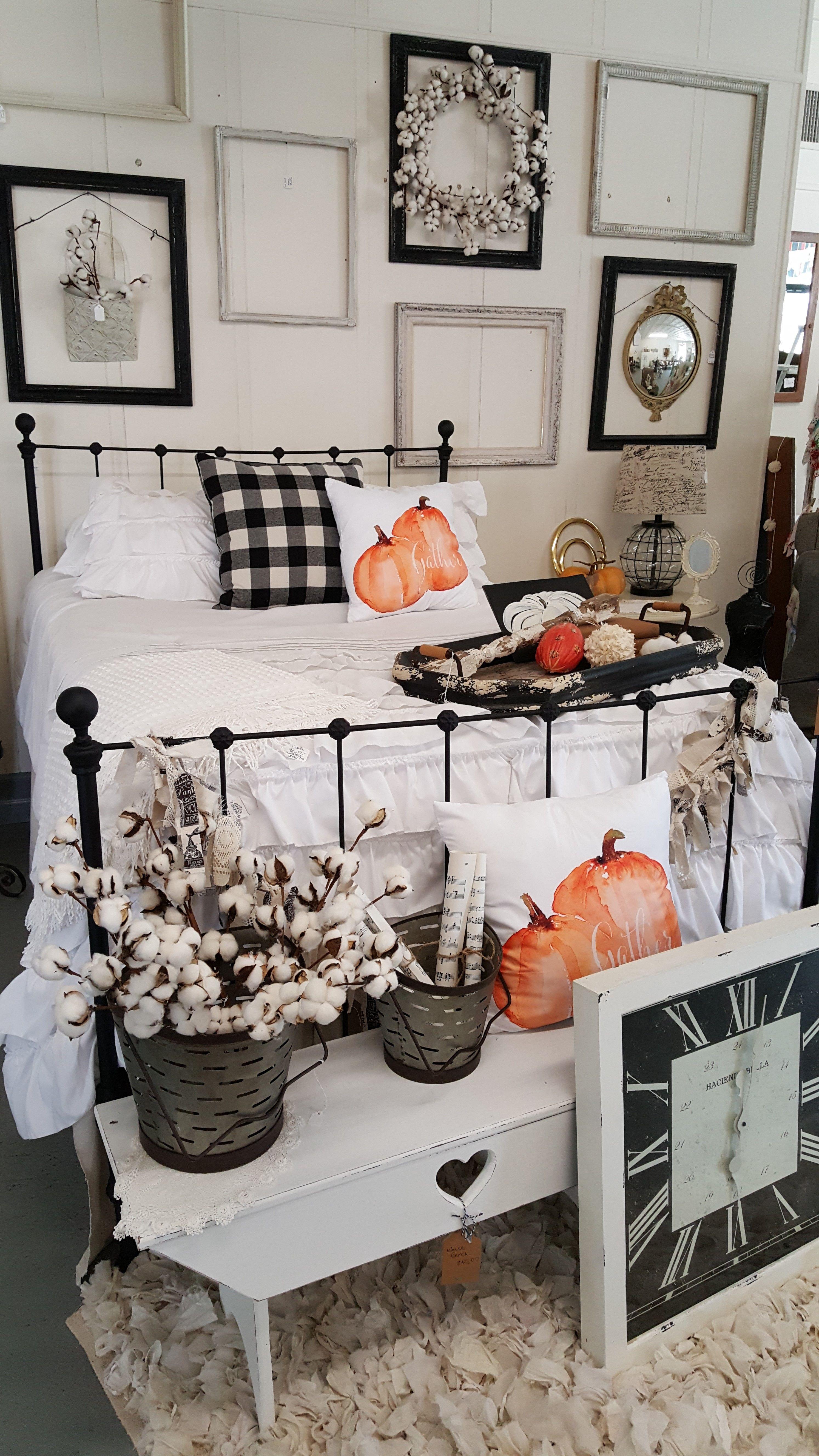 Fall Decorating For Shop Displays Buffalo Check Pillows