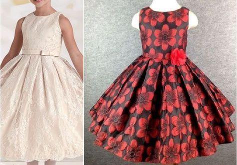 Patrón Vestido De Fiesta Para Niña Con La Falda Plisada Patrones Gratis Kids Dress Dresses Girls Dresses