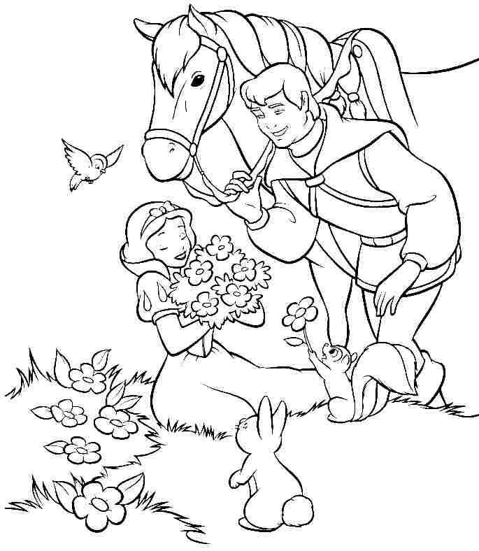 Gardening Disney Princess Coloring Pages Snow White 2 ...
