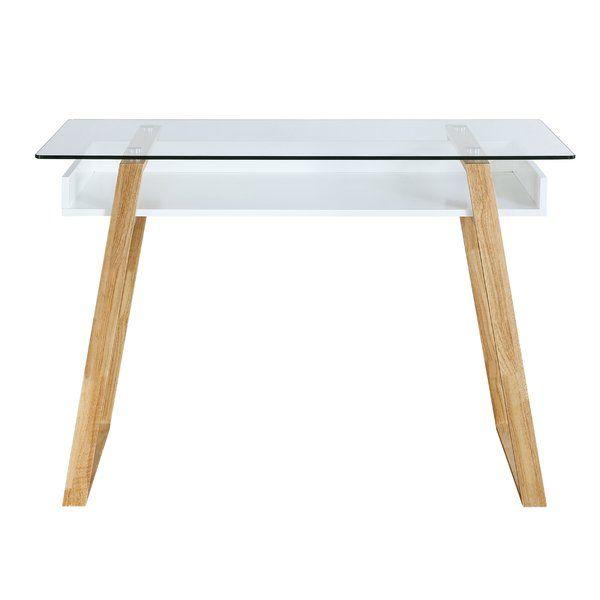 Capel Glass Writing Desk Reviews Allmodern Glass Top Desk