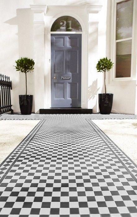 Victorian Black White Chequer Tile Ideas En General
