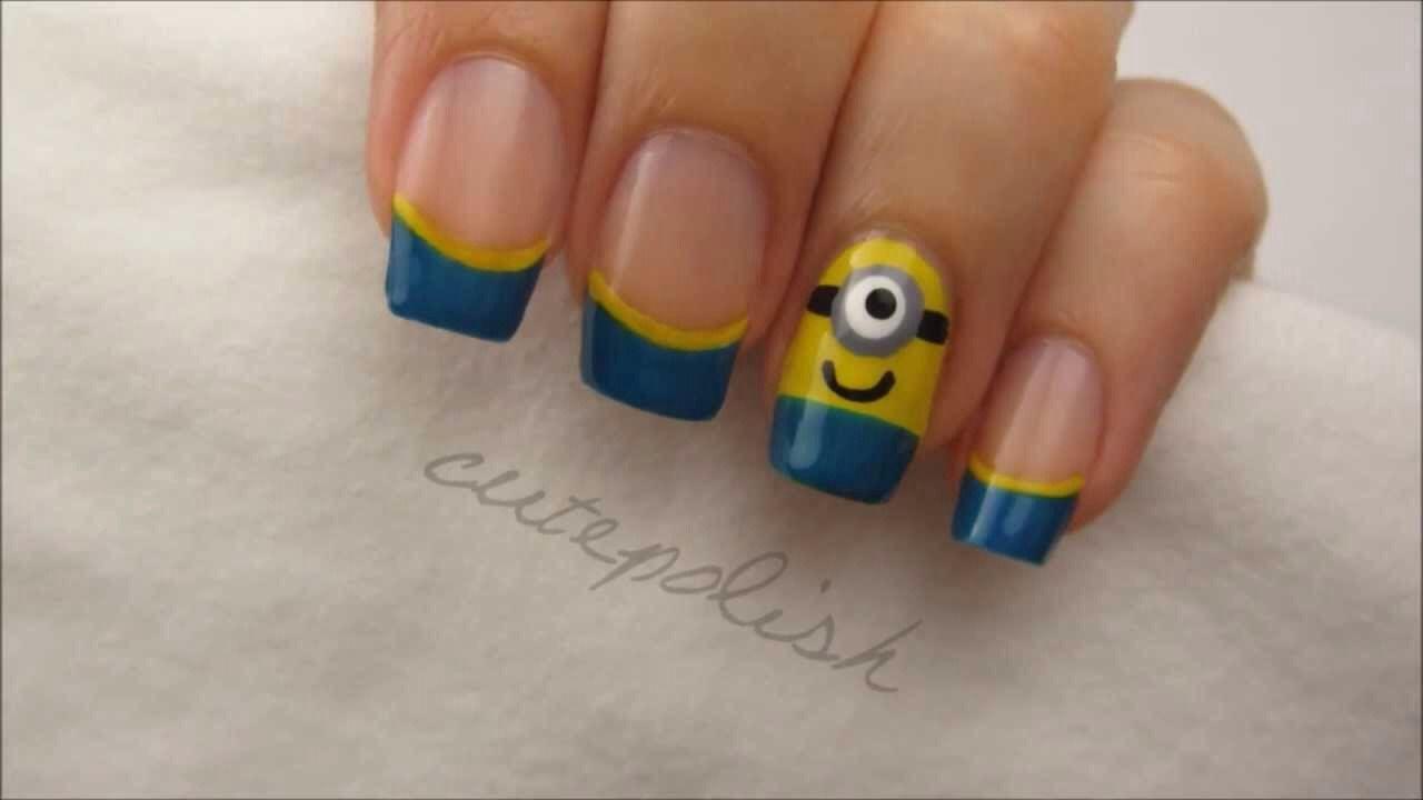 Despicable Me Minions Nail Art!