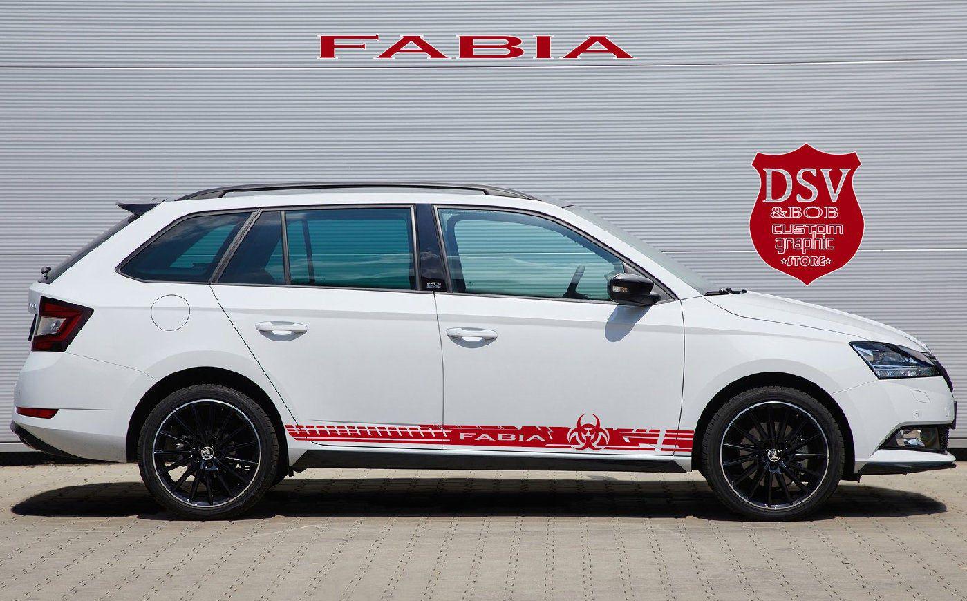 Set Of Art Car Stickers For Skoda Fabia Superb Yeti Karoq Rapid
