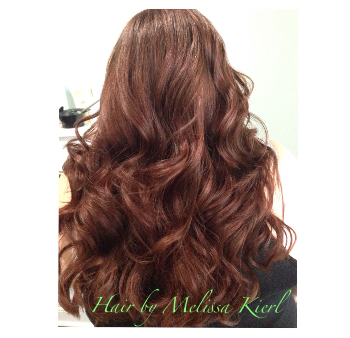 Auburn Hair Color With Curls Matrix Socolor Zone 1 3 Parts 5gc 1