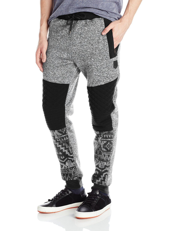 0375c26bb8b390 Amazon.com  Southpole Men s Jogger Pants Fleece with Biker Details and All  Over Prints
