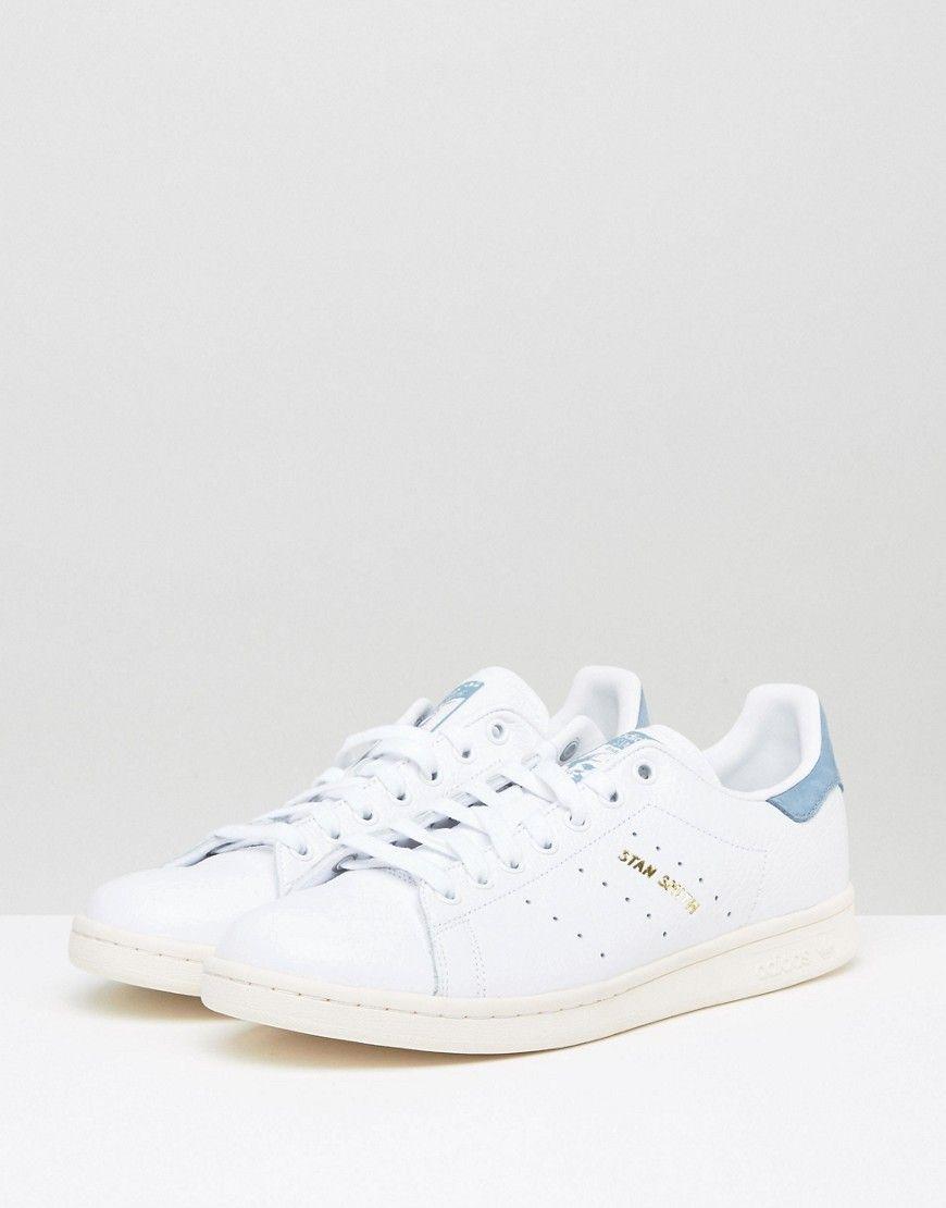 adidas originals stan smith sneakers vintage whitewhite