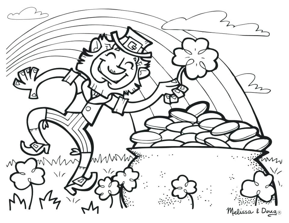 Leprechaun Coloring Sheet Coloring Pages St Patricks Day