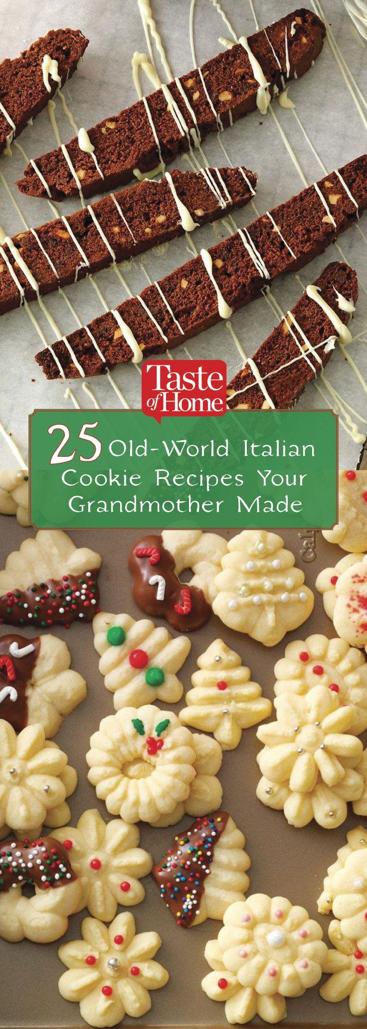 25 Old World Cookies From Your Italian Grandma Cookies Italian